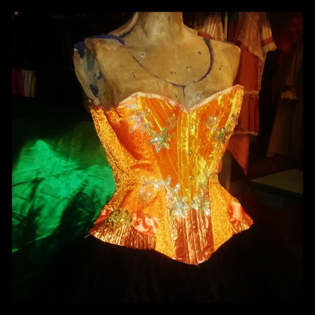 Orange Corset