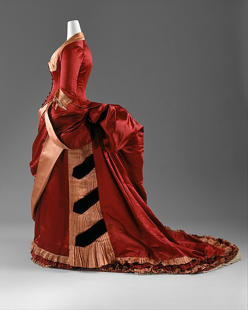 Evening Dress, American or European, c. 1884 - 1886, silk; The Metropolitan Museum of Art (C.I.63.23.3a, b)