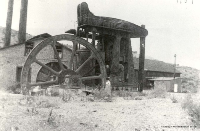 Walking beam pump- One of many massive pumps brought in at great expense to pump water out of the mine shafts.