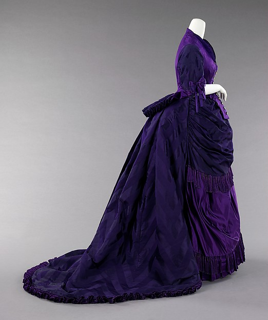 Afternoon Dress, French, c. 1872; Constructed by Charles Worth; Metropolitan Museum of Art (2009.300.1110a, b)