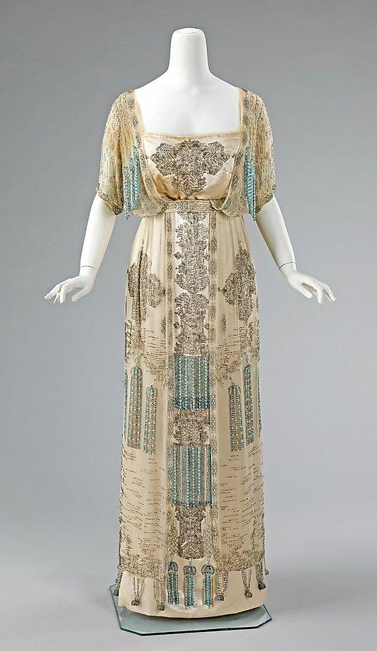 Evening Dress, French, c. 1909 - 1911; Metropolitan Museum of Art (2009.300.1333a, b)