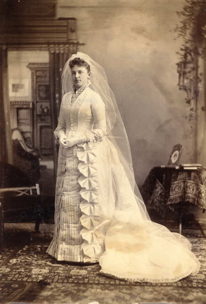 A Brief Look At Wedding Dresses of the 1880s | Lily Absinthe