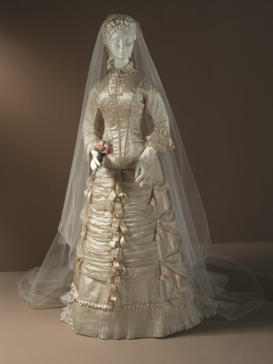 Wedding Dress, c. 1878; Los Angeles County Museum of Art (M.83.231.20a-b)
