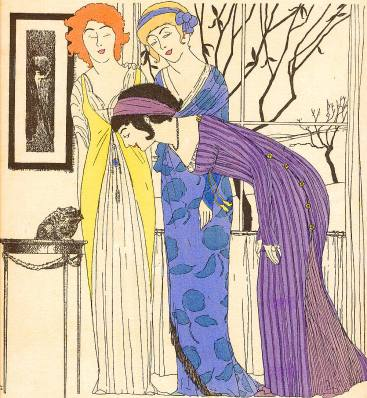 Paul Iribe, Les Robes de Paul Poiret, Plate III (1908)