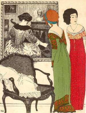 Paul Iribe, Les Robes de Paul Poiret, Plate I (1908)
