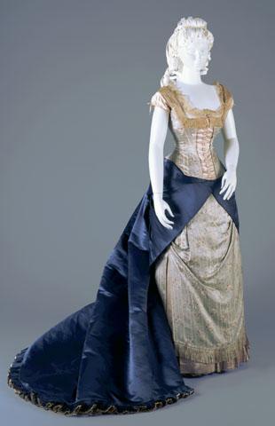 Reception gown, Worth, c. 1877-78