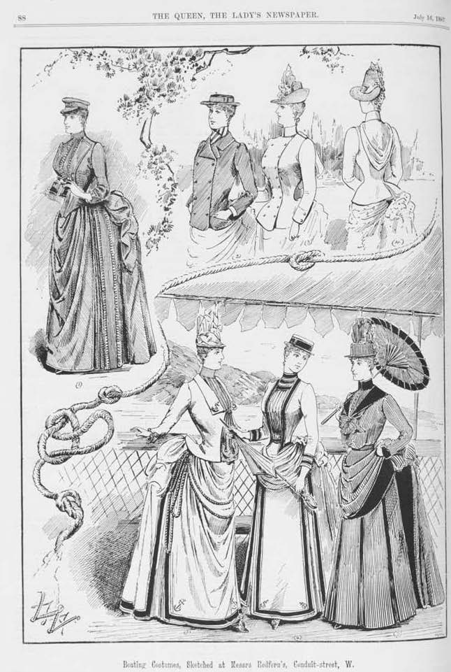 Redfern Yachting Fashion Queen 1887