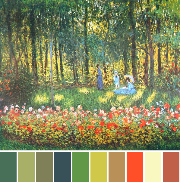 monet_the-artist-s-family-in-the-garden-palette1