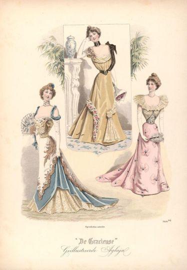 ball gown fashion plate 1899