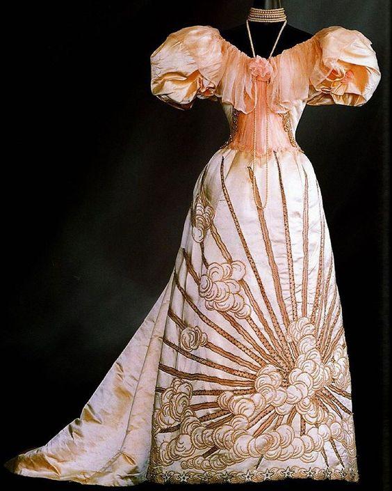 Worth Evening Dress Ball Gown