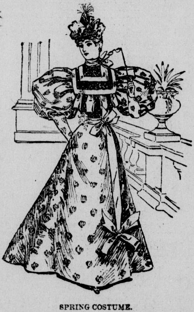 Sleeves and Skirt_April 1895_2 Los Angeles Herald