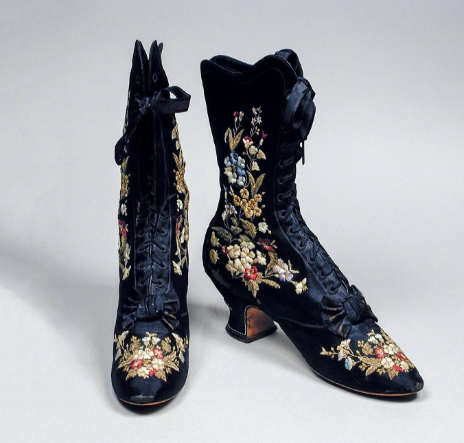 Woman's Embroidered Boots c. 1885