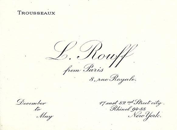 Maison Rouff Card 1910.
