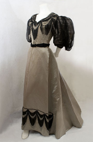 Evening Gown c. 1894 Morin-Blossier