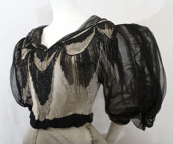 Evening Gown c. 1894 Morin-Blossier