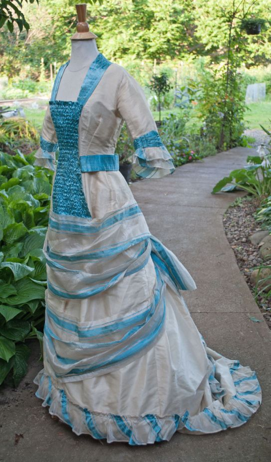 Pina Cloth Day Dress Princess Line c. 1880